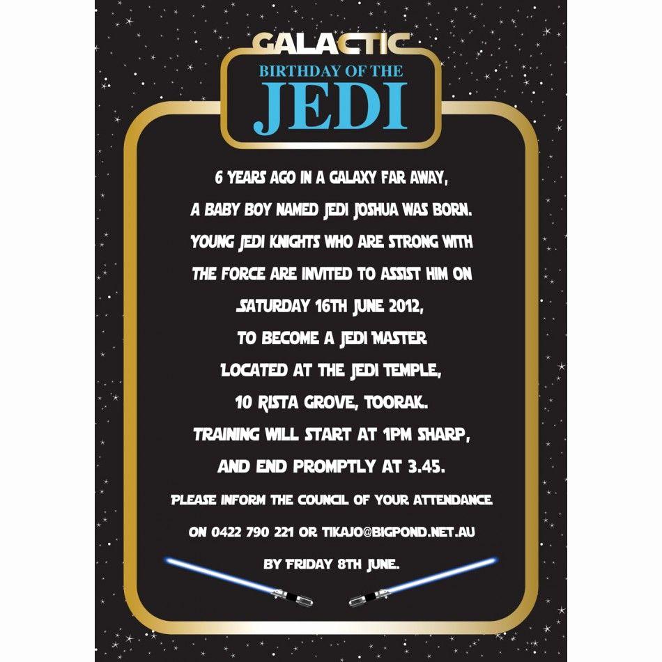 Star Wars Invitations Template Elegant Invitation Star Wars