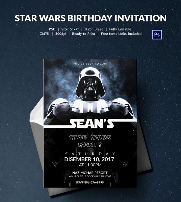 Star Wars Invitations Template New 23 Star Wars Birthday Invitation Templates – Free Sample