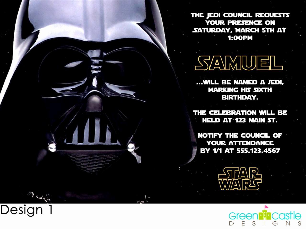 Star Wars Invitations Template New Free Star Wars Birthday Party Invitations Templates
