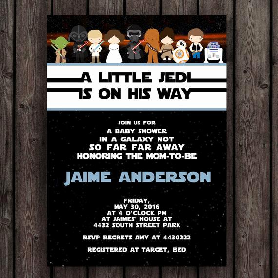 Star Wars Invitations Template New Star Wars Baby Shower Invitation Starwars Invitation Star