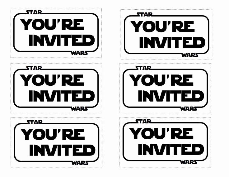 Star Wars Invitations Template New the Contemplative Creative Star Wars Party Invitation
