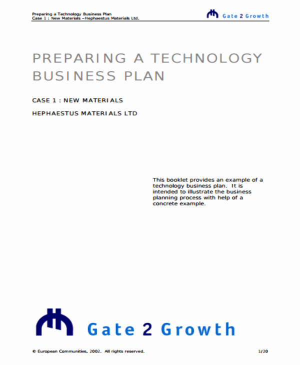 Startup Business Plan Template Pdf Lovely 3 Tech Startup Business Plan Templates Pdf Word
