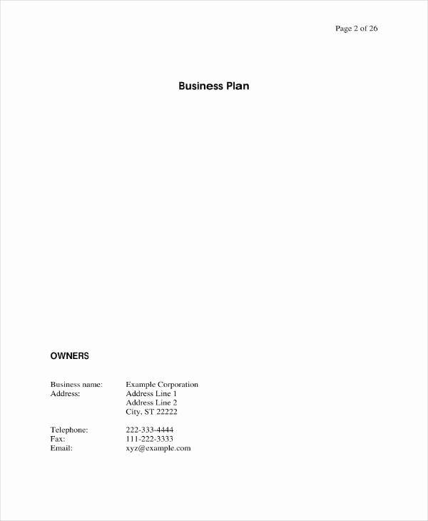 Startup Business Plan Template Pdf New 7 Startup Investment Proposal Templates Pdf