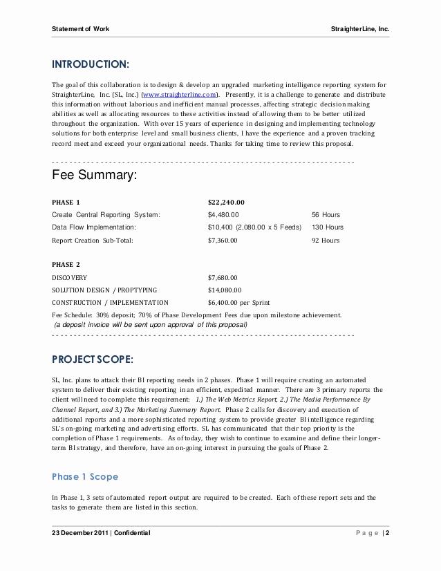 Statement Of Work Sample Luxury software Project Statement Of Work Document Sample