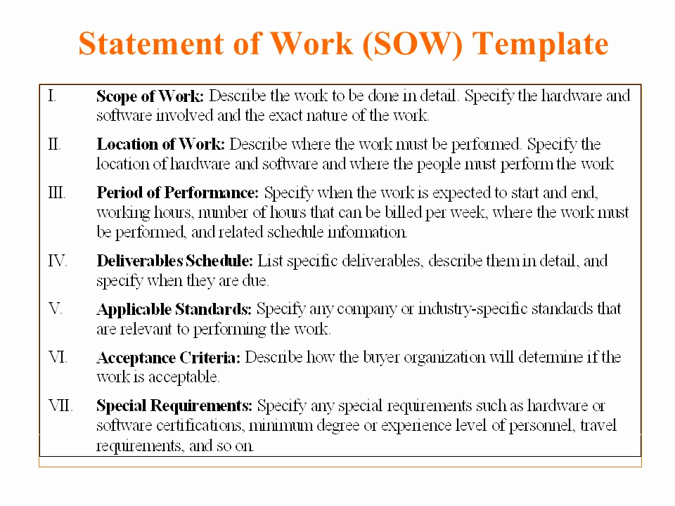 Statement Of Work Template Word Inspirational 5 Free Statement Work Templates Word Excel Pdf