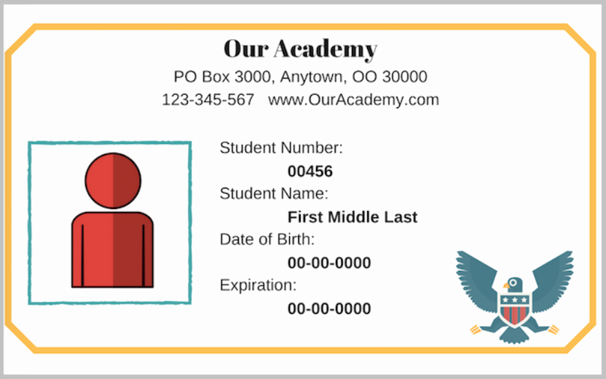 Student Id Card Template Awesome 30 Free Card Designs