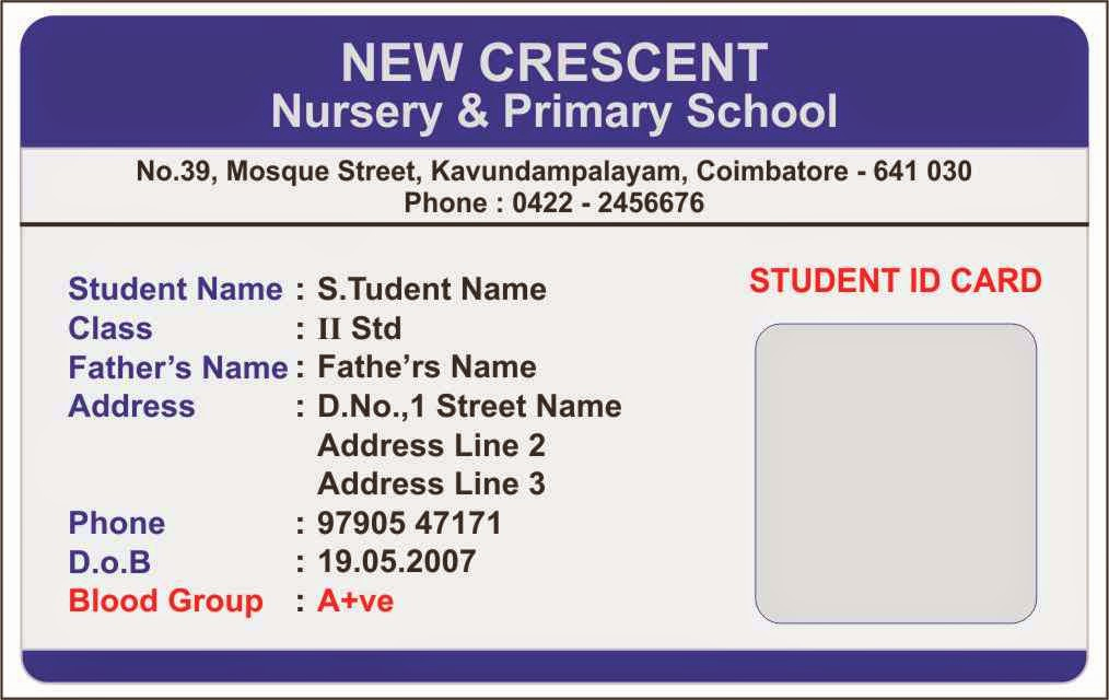 Student Id Card Template Beautiful More Students Id Cards Design Templates Samples