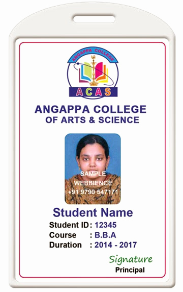 Student Id Card Template Best Of Id Card Coimbatore Ph College Id Card