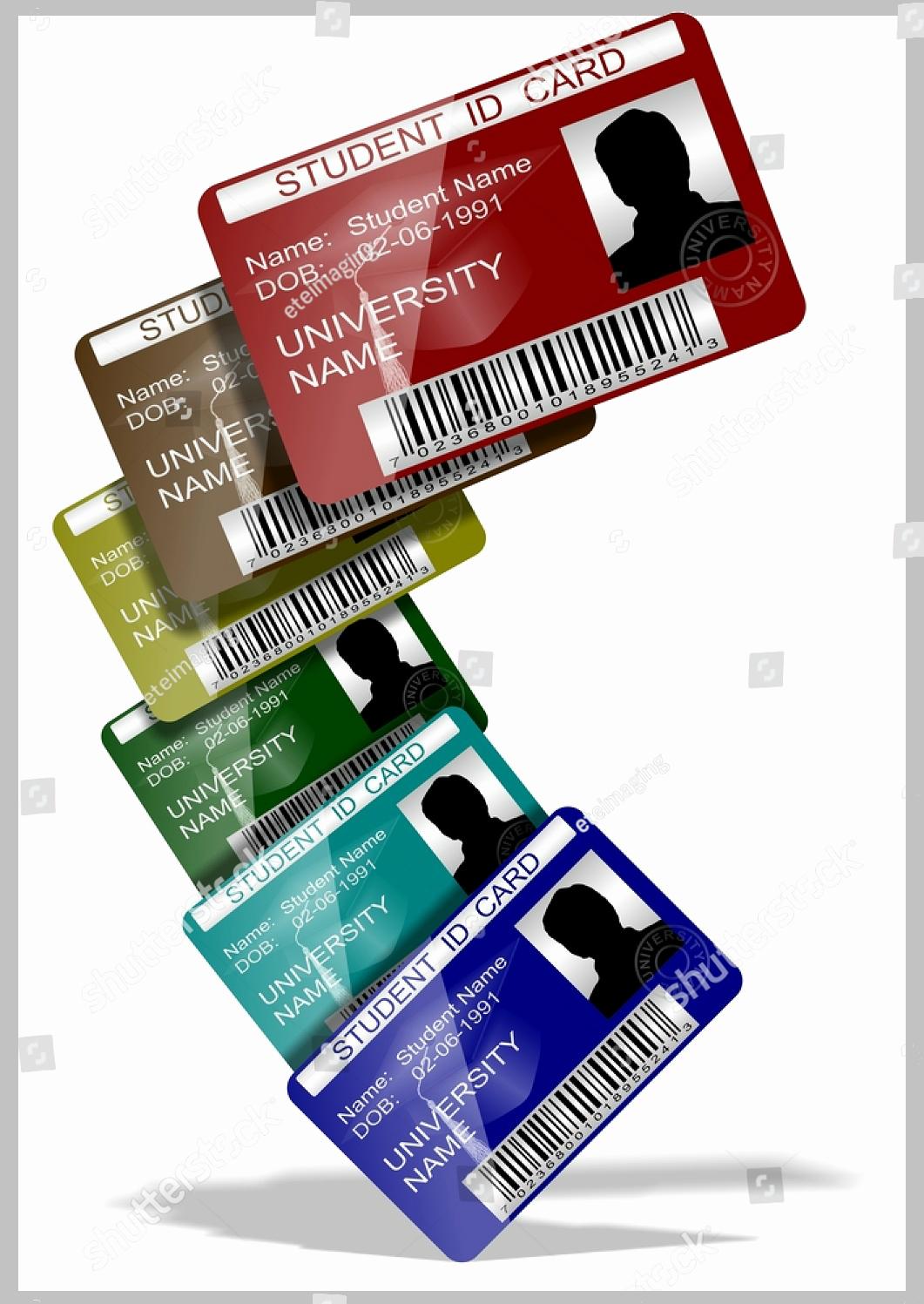 Student Id Card Template Fresh 10 Student Card Templates Editable Psd Ai Vector Eps