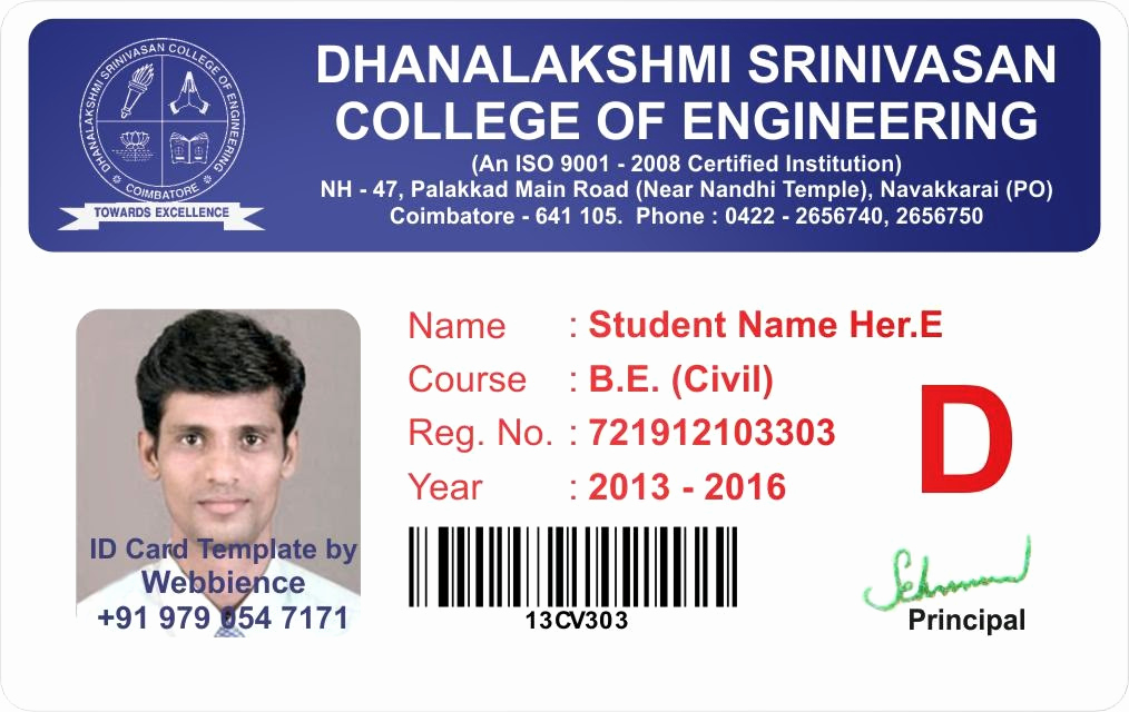 Student Id Card Template Fresh Template Galleries College Student Id Card Template