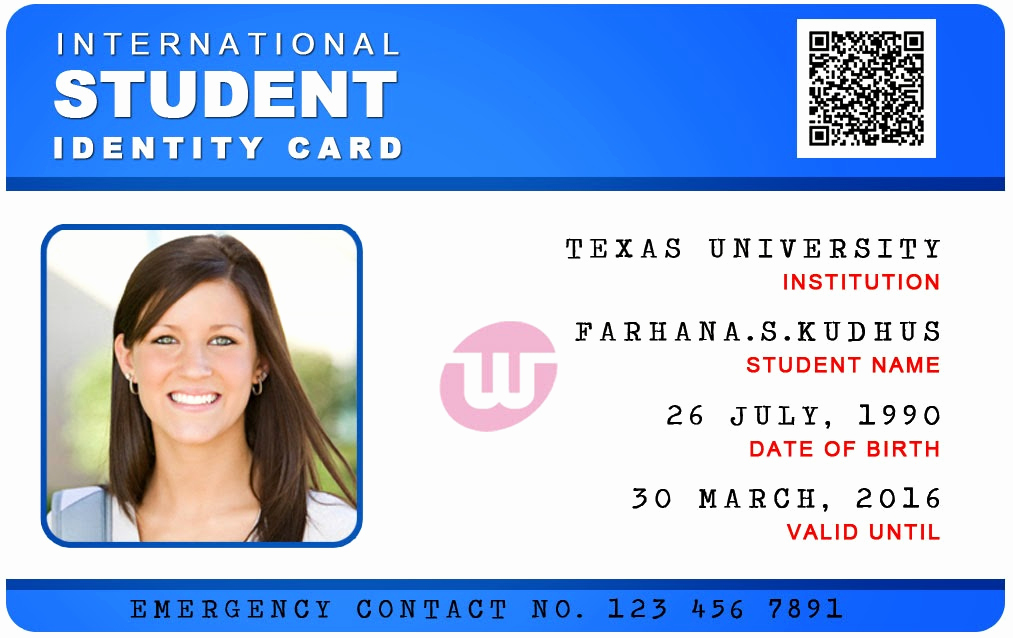 Student Id Card Template Inspirational Id Card Coimbatore Ph International