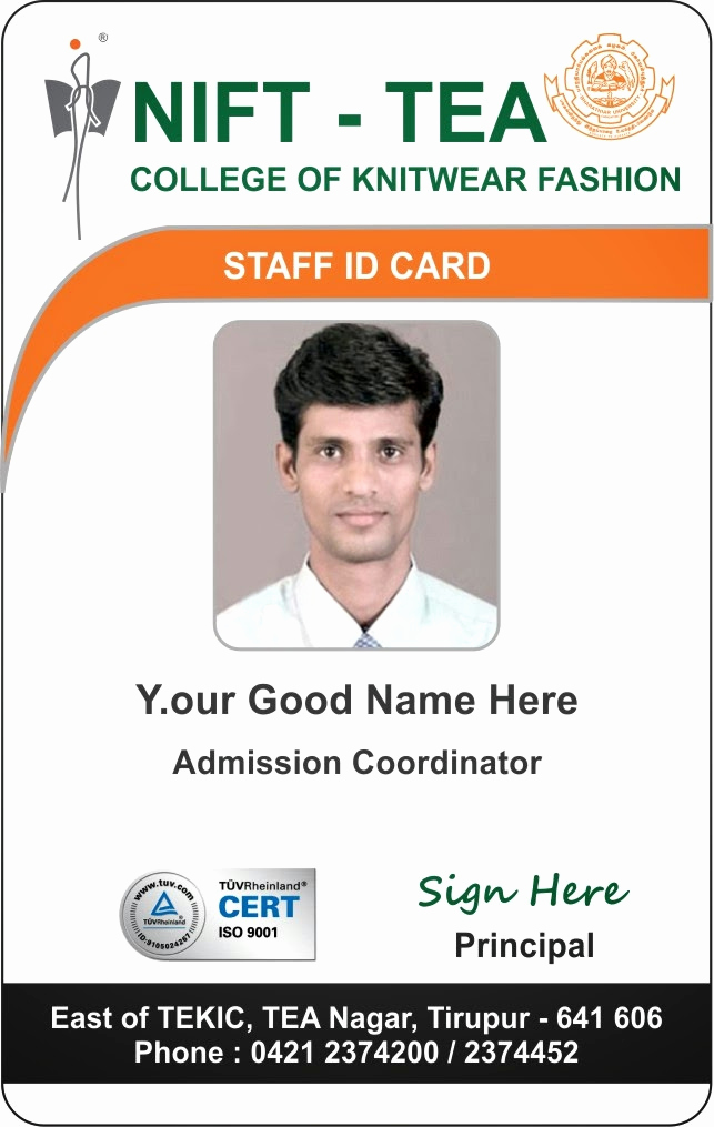 Student Id Card Template Lovely Id Card Coimbatore Ph College Student