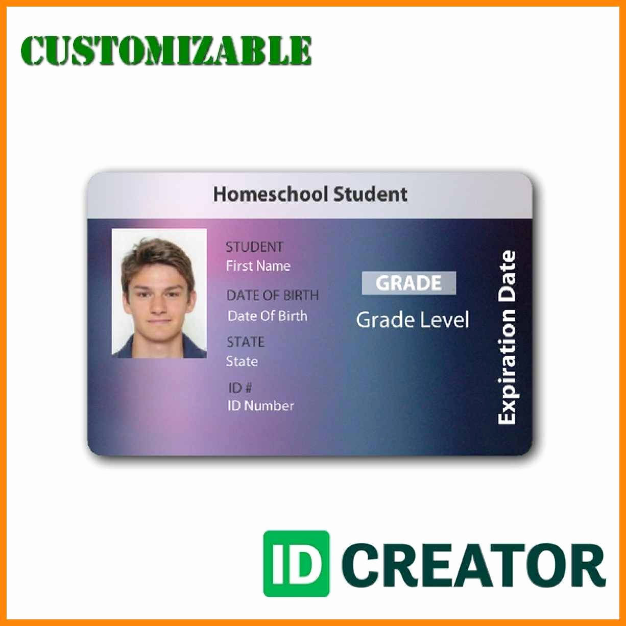 Student Id Card Template Luxury 6 7 Student Id Card Template