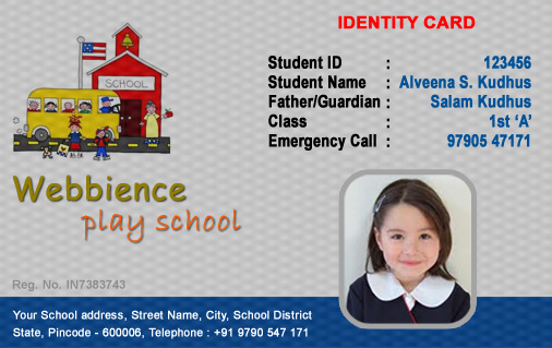 Student Id Card Template Unique Id Cards Student Id Card Free Template