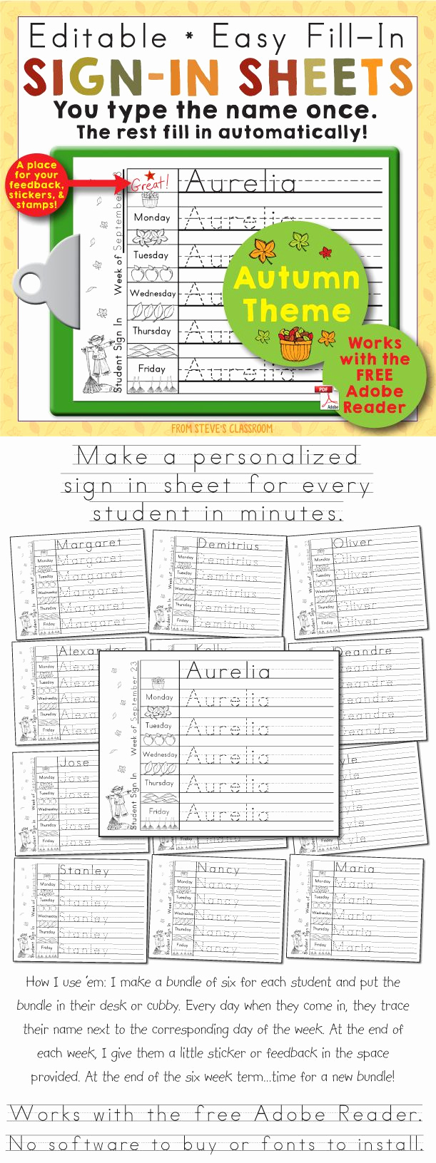 Student Sign In Sheet Best Of 25 Best Ideas About attendance Sheets On Pinterest