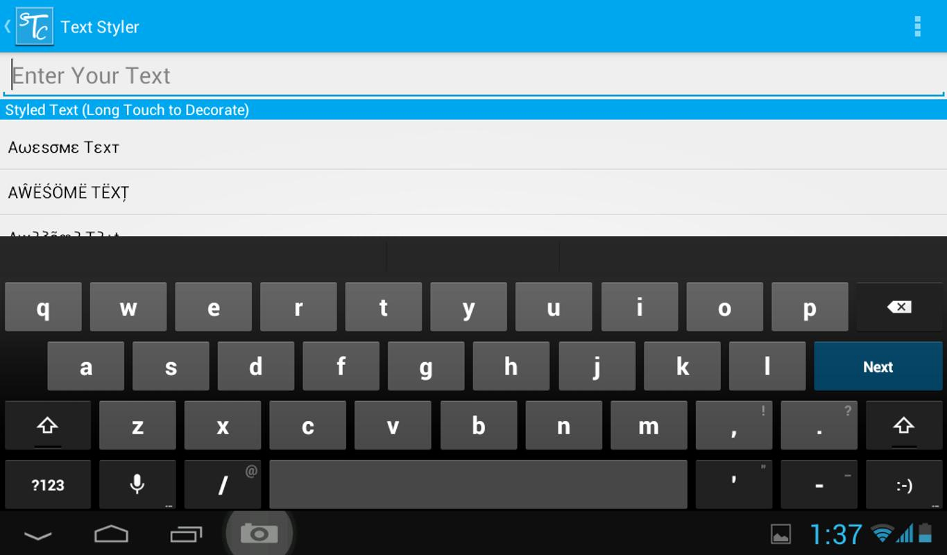 Stylish Fonts for android Fresh Stylish Text Creator for android Apk Download
