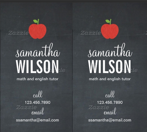 business cards for teachers tutors educators