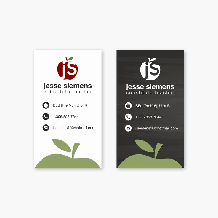 Substitute Teacher Business Cards Beautiful 1000 Ideas About Teacher Business Cards On Pinterest