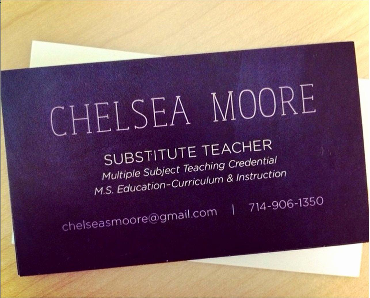 Substitute Teacher Business Cards Beautiful Teacher Substitute Teacher or Tutor Chalkboard Business Card