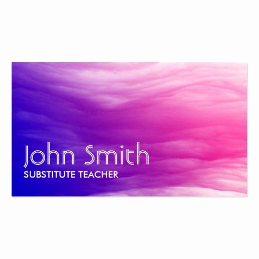 Substitute Teacher Business Cards Fresh Abstract Colorful Substitute Teacher Business Card