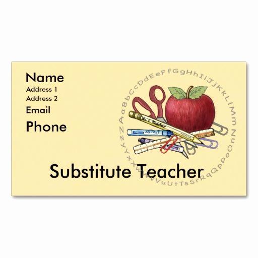 Substitute Teacher Business Cards Fresh Best 25 Teacher Business Cards Ideas Only On Pinterest