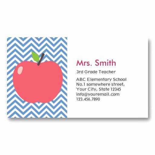 Substitute Teacher Business Cards Fresh Substitute Teacher Business Card Template