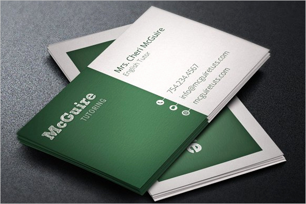 Substitute Teacher Business Cards Luxury 15 Teacher Business Card Templates Free Psd Designs