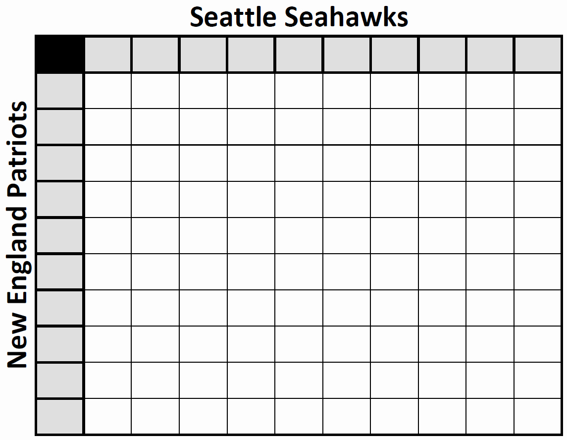 Super Bowl Squares Template Excel Beautiful Free Download Super Bowl 2015 Excel Spreadsheet Squares