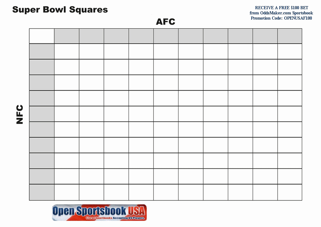 Super Bowl Squares Template Excel Beautiful Super Bowl Pool Template