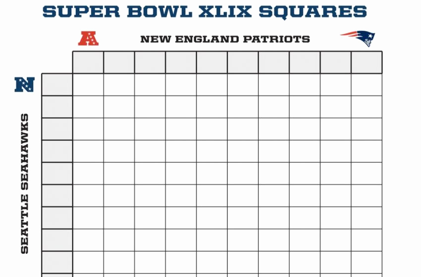 Super Bowl Squares Template Excel Beautiful Super Bowl Squares Template