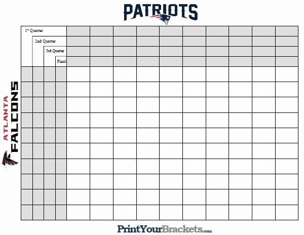 Super Bowl Squares Template Excel Elegant Superbowl Squares Template Excel Spreadsheets Help Super