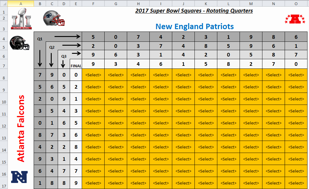 Super Bowl Squares Template Excel Fresh Excel Spreadsheets Help Super Bowl Squares Template 2017