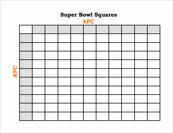 Super Bowl Squares Template Excel Inspirational 19 Football Pool Templates Word Excel Pdf