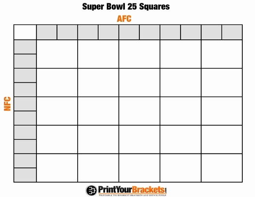 Super Bowl Squares Template Excel Inspirational Super Bowl Pool Template Beepmunk
