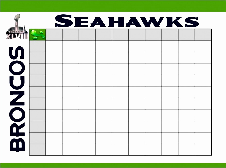 Super Bowl Squares Template Excel New 8 Football Pool Template Excel Exceltemplates
