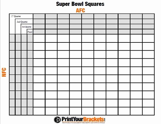 Super Bowl Squares Template Excel New Super Bowl Bracket Squares