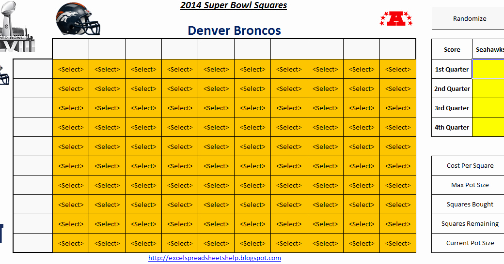 Super Bowl Squares Template Excel Unique Excel Spreadsheets Help Super Bowl Squares 2014 Spreadsheet