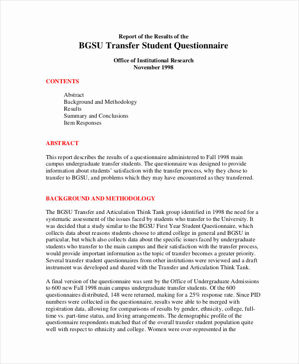 Survey Questions for Students Best Of 22 Student Questionnaire Examples Pdf Doc