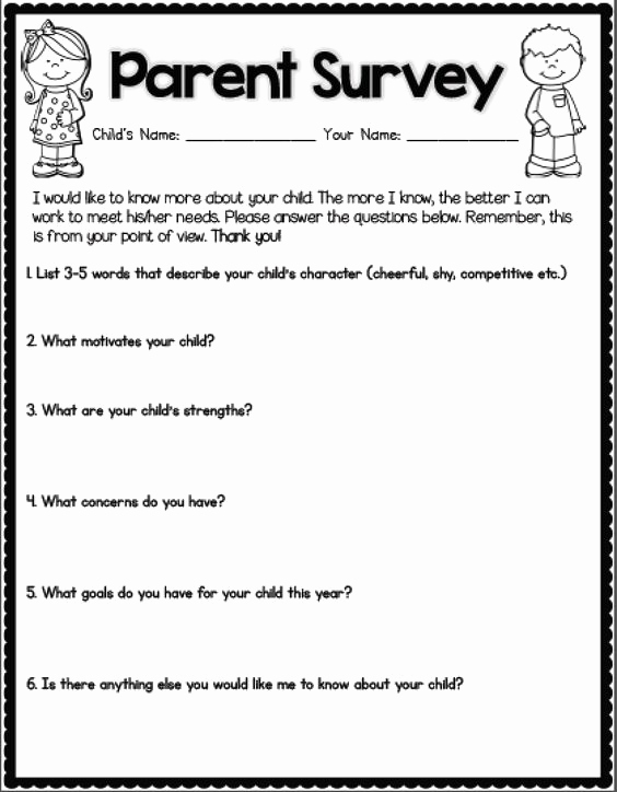 Survey Questions for Students Fresh Back to School Getting to Know Your Students