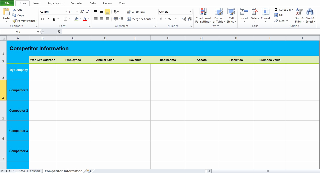 Swot Analysis Template Excel Lovely Get Swot Analysis Template Excel Excel Tmp