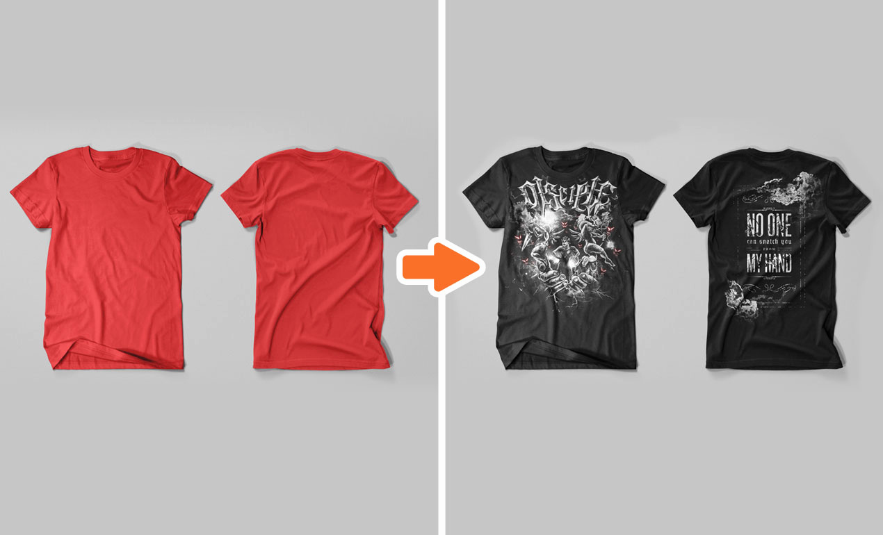mens t shirt flat templates