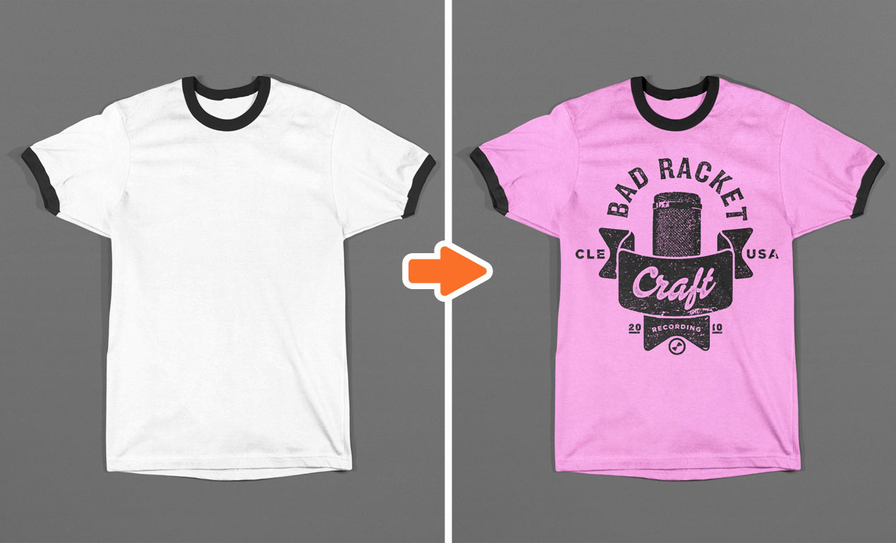 T Shirt Template Photoshop Beautiful Shop Ringer T Shirt Mockup Templates Pack