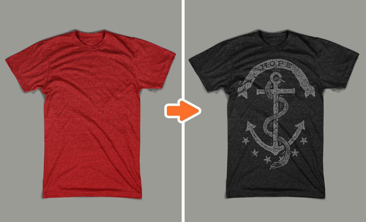 T Shirt Template Photoshop New Shop Men S Tri Blend Mockup Templates Pack