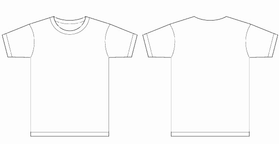 T Shirt Template Vector Beautiful Basic Template Vector T Shirt Templates