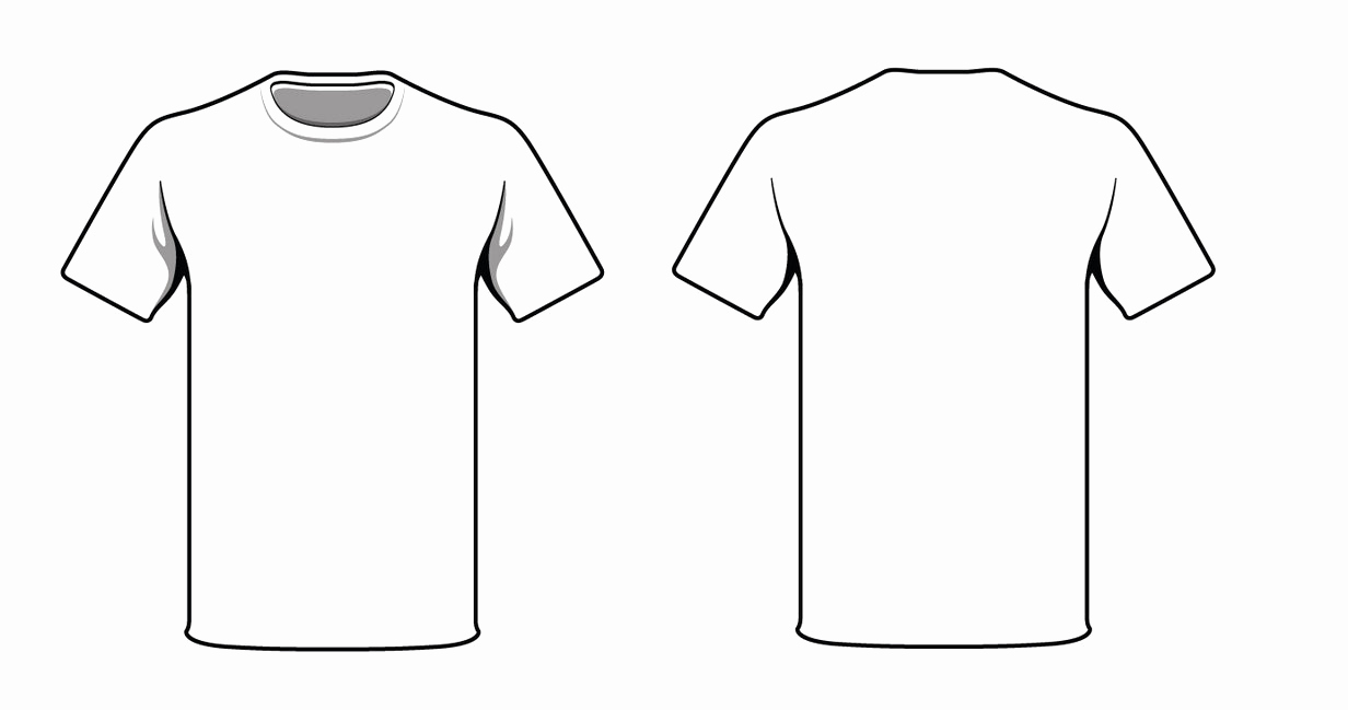 T Shirt Template Vector Beautiful Blank Tshirt Template
