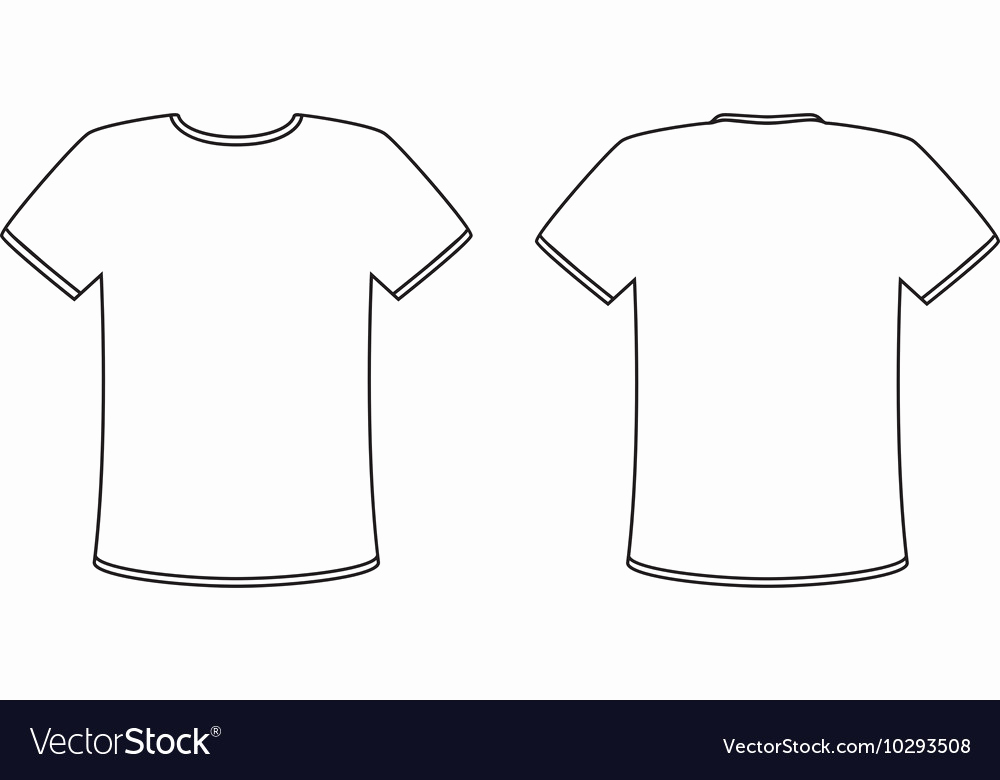 T Shirt Template Vector Elegant Blank Front and Back T Shirt Design Template Set Vector Image