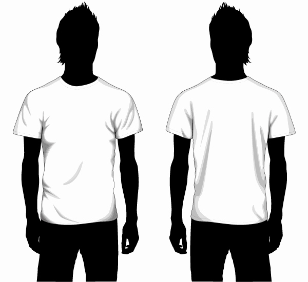 T Shirt Template Vector Elegant Vector Boys T Shirt Template Front and Back