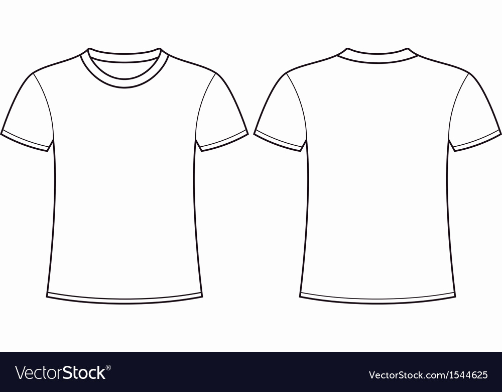 T Shirt Template Vector Inspirational Blank T Shirt Template Front and Back Royalty Free Vector