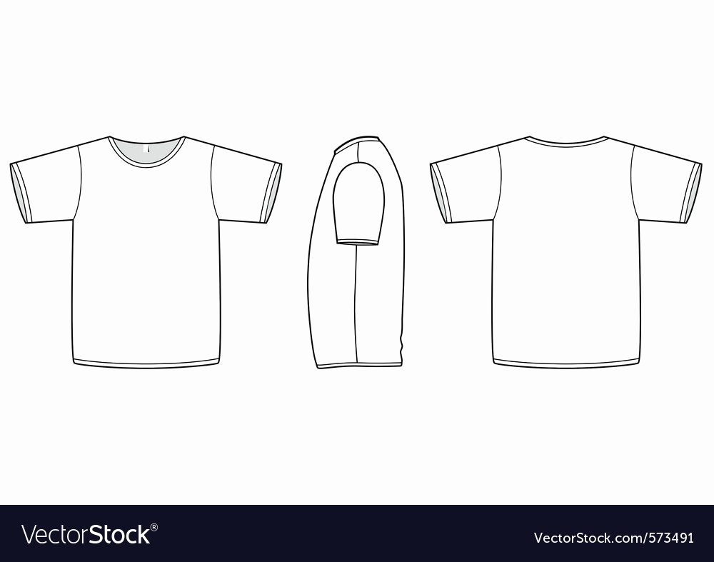 T Shirt Template Vector Lovely Basic Uni Tshirt Template Royalty Free Vector Image