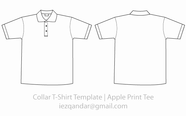 collar tee template vector